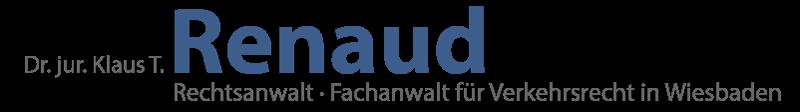 Logo Anwaltskanzlei für Verkehrsrecht · Dr. Jur. Klaus T. Renaud